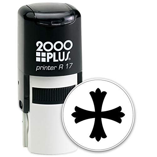 Cross in a Circle Self-Inking Stamp