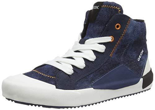 Geox Jungen J Alonisso Boy C Hohe Sneaker, Blau (Blue/Orange C0057), 35 EU