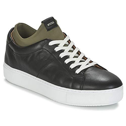 SHABBIES SHS0174 LOW SMOOTH Sneakers dames Zwart/Groen Lage sneakers