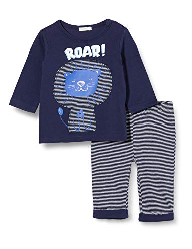 United Colors of Benetton Completino T-Shirt E Pantalone Conjunto de Ropa, Azul (Peacoat 252), 68 para Bebés