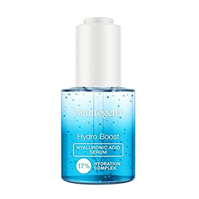 Neutrogena Hydro Boost Hyaluronic Acid Serum with 17% Hydration Complex, Lightweight Daily Hyaluronic Acid Facial Serum for Dry Skin, Oil-Free Fragrance-Free, 1 fl. oz