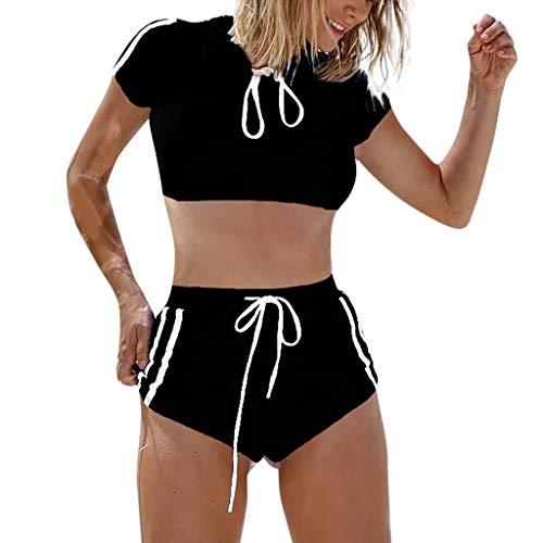 TEBAISE 2019 Bikini Sets Zweiteiler Badeanzug Damen Vintage Bademode Ruffles Strap Badeanzug Bikinis Push Up Bademode mit Badehose Bikini-Set Swimsuit Swimsuit Women Girls Costume Swimsuit Bikini Set