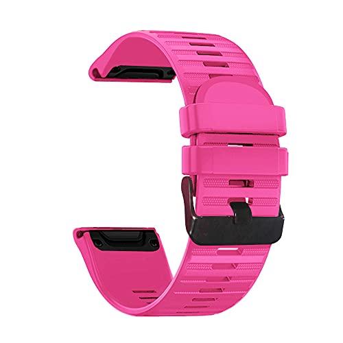 AISPORTS Compatible con Garmin Fenix 3 Correa de Silicona,26mm Correa de Deportiva Reloj de Ajuste Rápido Correa de Repuesto para Garmin Fenix 6X/Fenix 6X Pro/Fenix 5X/Fenix 5X Plus/Fenix 3/Fenix 3 HR