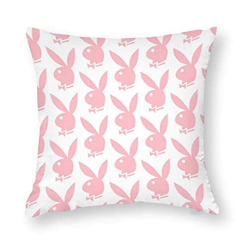 SHAWINGO Pink Playboy Bunny Pillow Case Printed on Both Sides for...