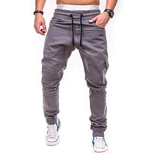 LANSKIRT Hombre Pantalones chandals Jogger Deportivos Urbano Pantalón de Trabajo Ropa Fitness Deporte Pant Gym de Cintura Elastica con Cremallera y Bolsillos