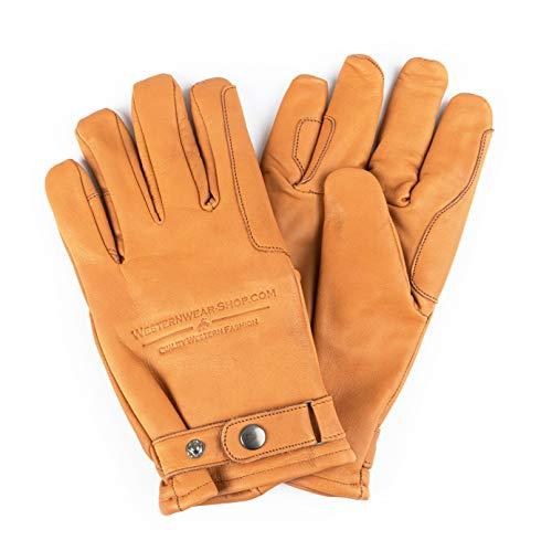 Westernwear Winter Westernhandschuhe & Winter-Reithandschuhe Nappaleder Unisex Westernhandschuhe Reitsporthandschuhe Winter-Lederhandschuhe Cowboy Leather Gloves Outdoor Braun (XL)