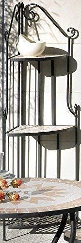 linoows Eckregal Florenza, Mosaik Möbel im Mediterrane Stil, Eck Regal Eisen