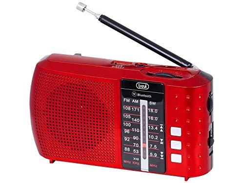 Trevi RA 7F20 BT Radio portátil multibanda con Bluetooth, USB, MicroSD, batería Recargable Rojo