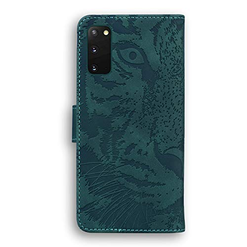 Hülle für Galaxy S20 Handyhülle Schutzhülle Leder PU Wallet Bumper Lederhülle Ledertasche Klapphülle Klappbar Magnetisch für Samsung Galaxy S20 - ZITX010350 Grün