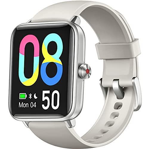 Dirrelo Smartwatch Hombre Mujer 2021, Reloj Inteligente Hombre y Mujer con Rastreo GPS con 14 Modos Deportivos, Monitoreo de Estrés y Oxígeno en Sangre, para Teléfonos iOS iPhone Android Xiaomi, Gris