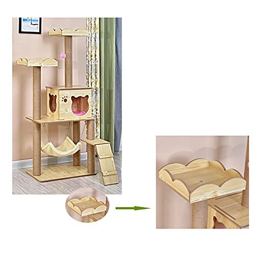 Árbol multifuncional para gatos, casa para gatos, cama para gatos, centro de actividades para gatitos, productos para mascotas con postes rascadores de sisal, casa de juegos para gatitos, soporte de