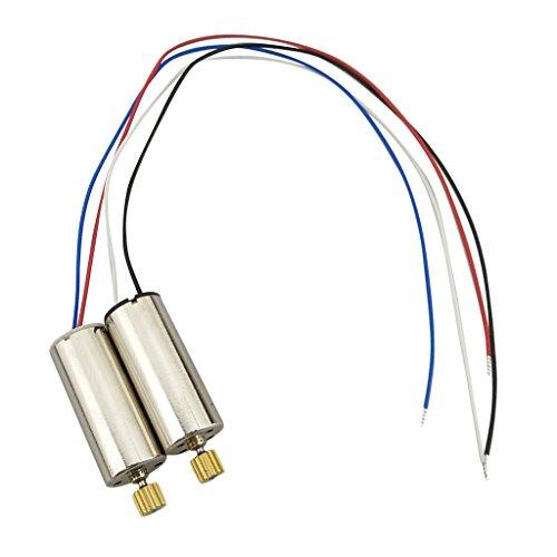 Bonarty Motor De 2 Piezas para Hubsan H502E H502S H50 X4 CW CCW Motor Copper Teeth Drone Parts