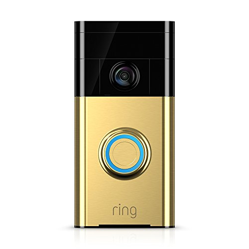 Ring Wi-Fi Enabled Video Doorbell in Polished Brass, Works with Amazon Alexa