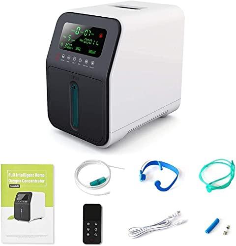 Maquina Concentrador Oxígeno Concentrador de Oxígeno-Oxígeno Portatil 1-5 L/min Concentrador Oxígeno Pequeño,Generador Concentrador de Oxígeno para Uso Doméstico de Automóviles de Viaje,No ES Médico