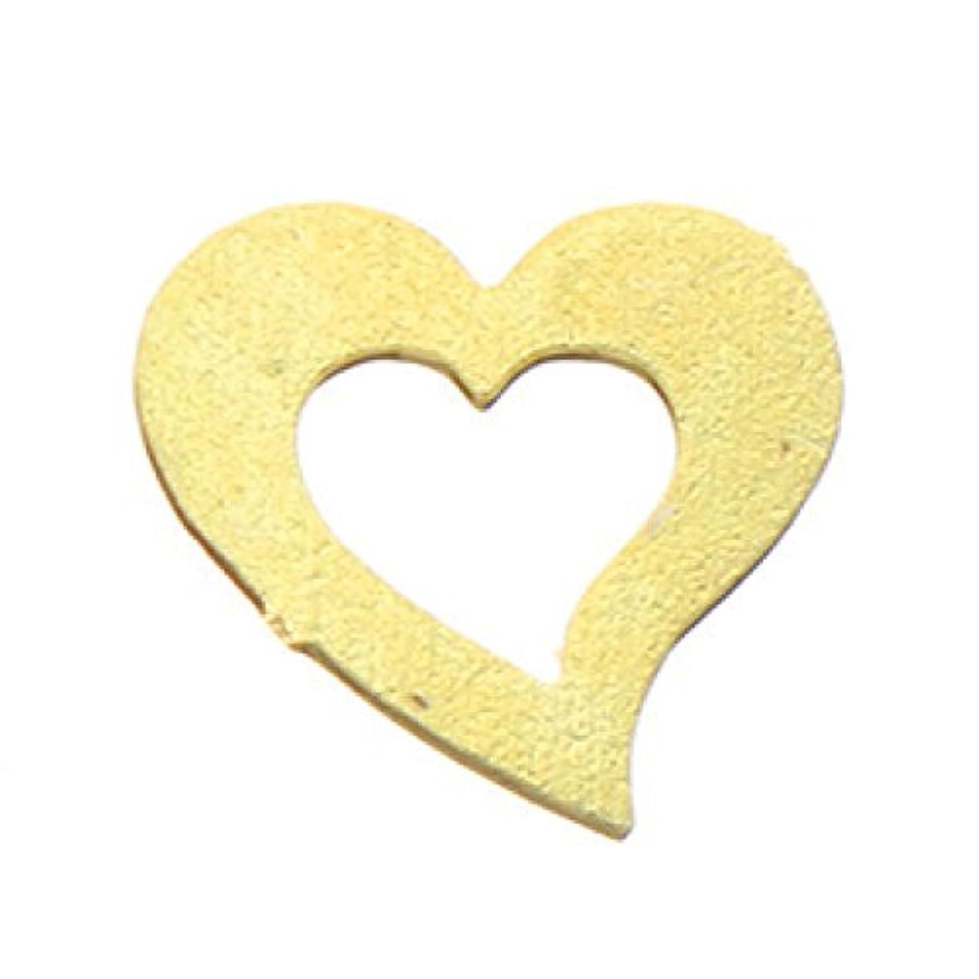 キルス魔女リマークメタルプレート(ネイルストーン デコ)ハート (30個入り) ゴールド(ネイル用品)