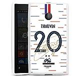 DeinDesign Silikon Hülle kompatibel mit Microsoft Lumia 435 Case Schutzhülle Nationalmannschaft Frankreich Thauvin