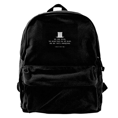 Schulrucksack Gangs of New York Movie Opening Line Canvas Backpack Anime Durable Birthday School Student College Bag Daypack Gift Adult Portable Print Book Travel Unique Shoulder