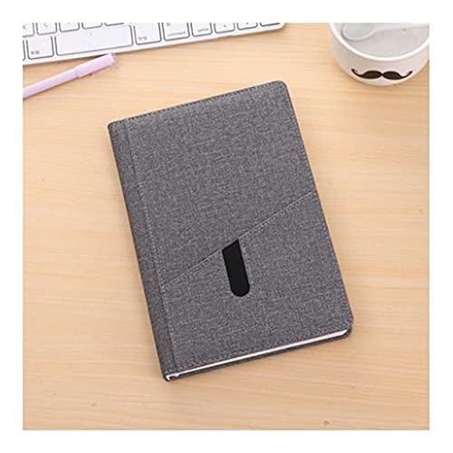 QIFFIY Cuaderno de Tapa Dura, Portada de inserción, Diario de revistas y oficinas y Escritura de Estudiantes, Viaje para Llevar como Regalo (14.2x21.3cm) (Color : Dark Grey)