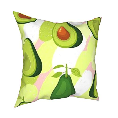 Hengjiang Weiang Halloween Party Cushion Cover45 * 45cm Modern Contemporary Seamless Pattern With Avocado Fruits And Abstract Elements. Texture For Textile, Fabric, Wrapping Paper, Packaging Etc. .