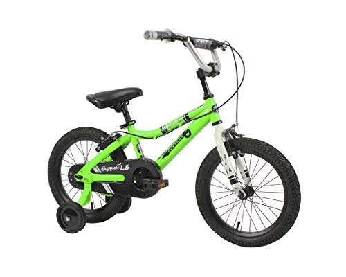 Duzy Customs 16'' Green Kids Bike with Five Minute Quick Assembly, Skyquest