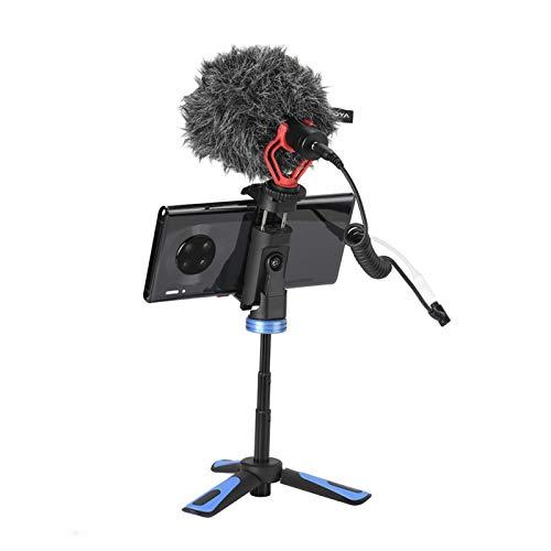Trípode de Escritorio Trípode Giratorio de 360 Grados, para transmisión en Vivo de Escritorio, Video, Selfie, Soporte