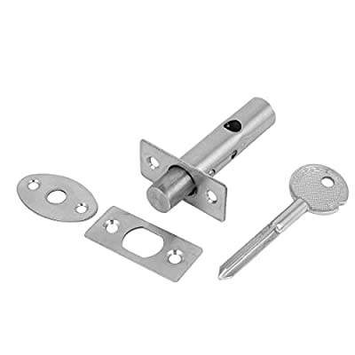 Uxcell a16061400ux0203 Uxcell a16061400ux0203 Office Door Stainless Steel Hidden Manager Tube Well Key Mortise Lock Silver Tone, Stainless Steel