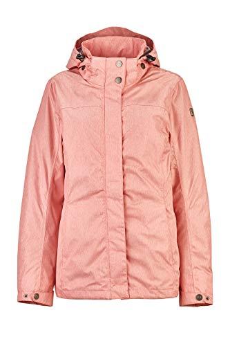 Killtec Lenera Veste fonctionnelle/veste d'extérieur/veste de pluie avec capuche zippée Femme Corail Rose FR : 4XL (Taille Fabricant : 50)