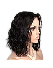 Lace Front Wigs Glueless Short Bob Human Hair Wigs Wavy With Baby Hair For Women 15.7 inch Short Wavy Lace Wigs On Sale