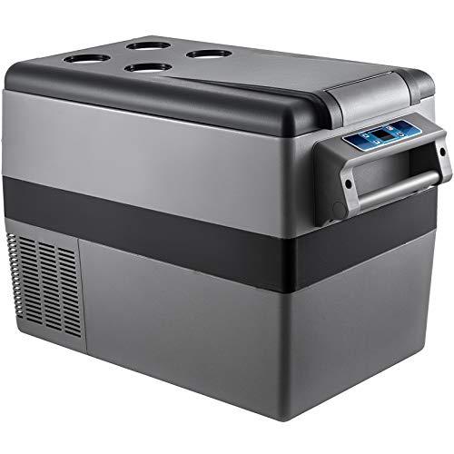 VEVOR Glacière Électrique Voiture Silencieux 45W, Réfrigérateur Portable à Compression -20 à 20℃ Mini-Frigo, 69x35x46 cm Glacière, 45L Mini Congelateur Compresseur pour Maison, Voiture et...