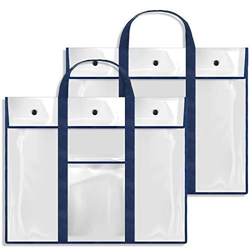 Gamenote 2 Pack Large Poster Storage Bag (31.5×25.5) Bulletin Board Holder Art Portfolio Container for Teachers Classroom Organization