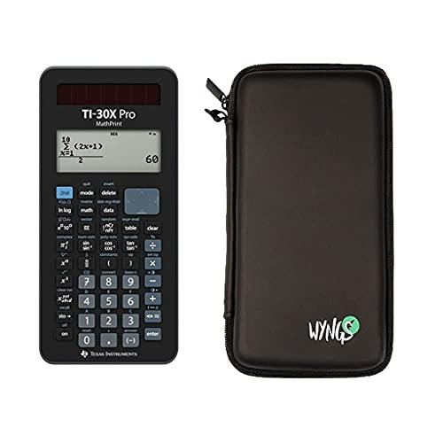 TI 30X Pro MathPrint wissenschaftlicher Taschenrechner + WYNGS Schutztasche + erweiterte Garantie von CALCUSO