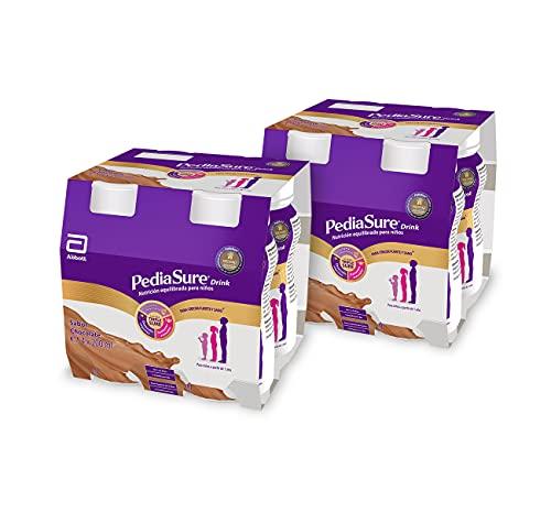 PediaSure drink – Batido para Niños, Sabor Chocolate, con Proteínas, Vitaminas y Minerales – Pack 8 botellas x 200ml