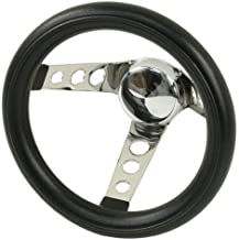 Empi 79-4111 Poly-Foam Steering Wheel, Chrome 3 Spoke 10
