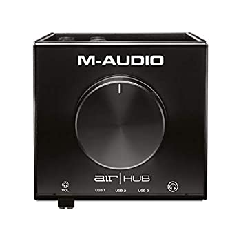 M-Audio AIR HUB - USB Audio Interface with 3-Port Hub and Recording Software from Pro-Tools & Ableton Live Plus Studio-Grade FX & Instruments