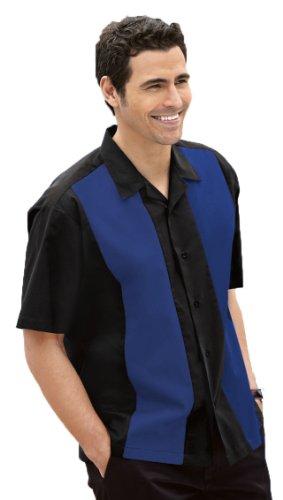 Port Authority Retro Camp Shirt (S300) Black/Royal, M