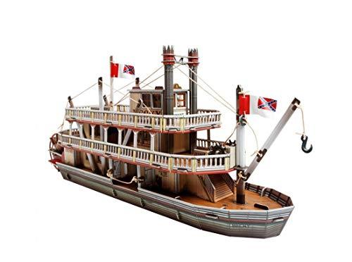 UMBUM 466 Wild West Steamboat Brettspiel in Box, Mehrfarbig