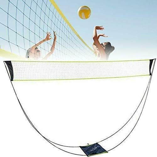 Walant Tragbares Badminton Netz,3m Badmintonnetz mit Stand Tragetasche,faltbares Federballnetz Outdoor Trainingsnetz,für Strand und Gartenspiel FederballNetz