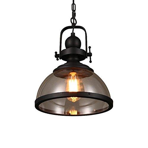 Retro Industrial lámpara colgante comedor lámpara hierro vidrio esmerilado ahorcamiento lámpara iluminación minimalista Styles pastoraux Vintage colgante lámpara Edison Lámpara ø31