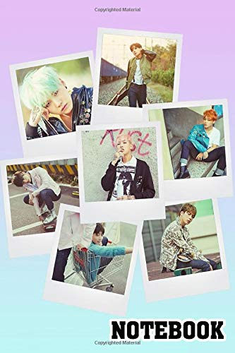 BTS Polaroid V1 Spiral Notebook: (110 Pages, Lined paper, 6 x 9 size, Soft Glossy Cover)