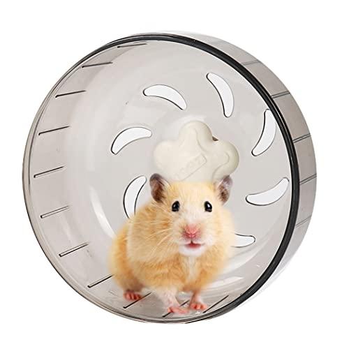 ZOYLINK Hamster Rueda Juguete Divertido Interactivo Creativo Claro Hámster Ejercicio Rueda Jugando Rodillo Lindo Ligero Peso Ligero