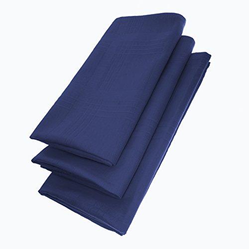 Daloual Lot de 3 Serviettes x 44 cm en 100% Coton Bleu 44 cm