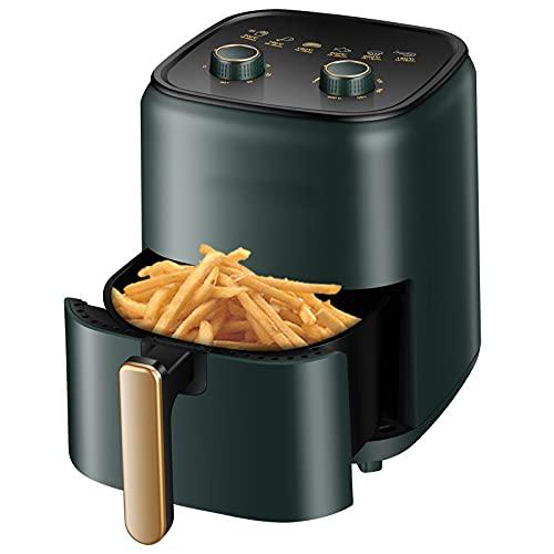 MYJSY 5L Fryer Ofen Oilless Herd mit abnehmbarem Geschirrspüler Safe Korb & einfache Nutzungsknöpfe zum Rösten, Luftbraten, Wiedererwärmen & Dehydratieren