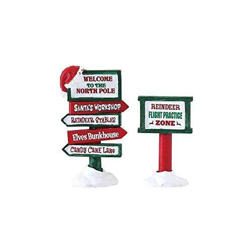 Lemax - North Pole Signs - Set of 2