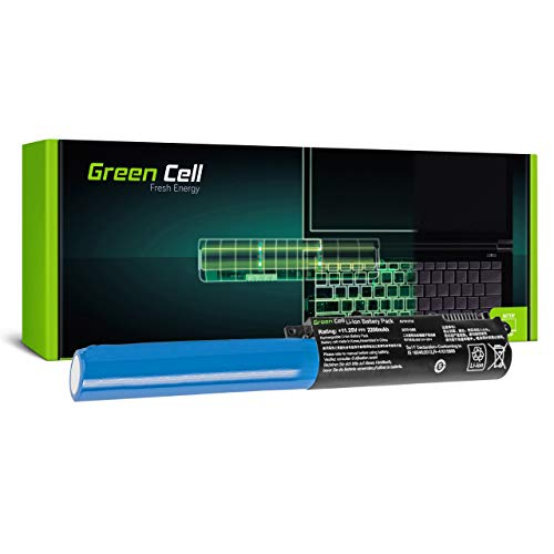 Green Cell Batería para ASUS F540LJ-XX702T F540LJ-XX703T F540M F540MA F540MB F540N F540NA F540NV F540S F540SA F540SA-XX068T F540SA-XX073T F540SA-XX125T Portátil (2200mAh 11.25V Negro)