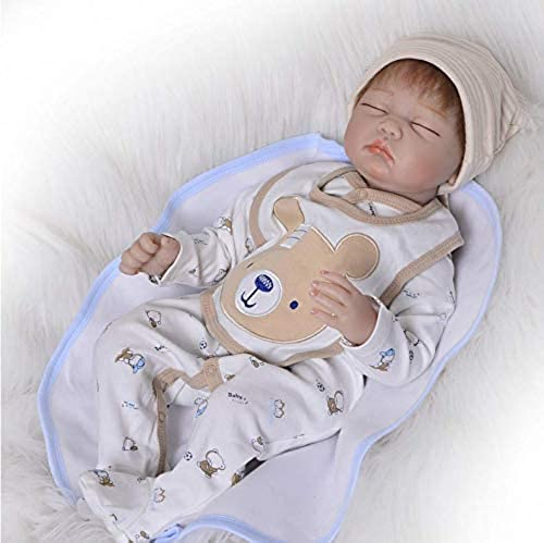 disfruta ahorrando 30-50% de descuento HGYG HGYG HGYG Suave Silicona Vinilo Recien Nacido Boy 22 Pulgadas 55 cm Niño Ojos Cierra Reborn muñecas bebé Magnética Cumpleaños Regalos Baby Dolls Juguete  producto de calidad