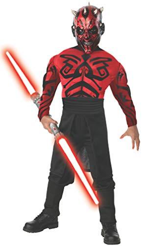 Star Wars - Disfraz de Darth Maul musculoso, para niños (Rubie