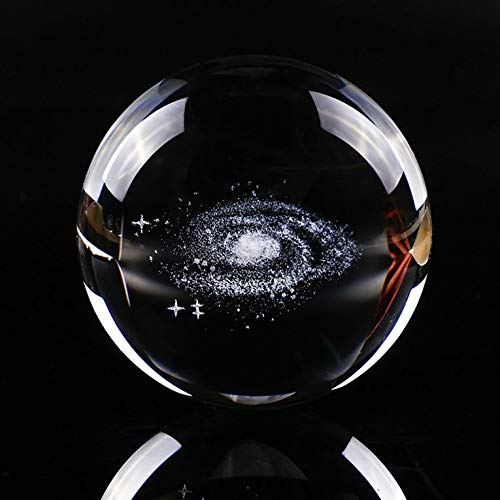 #N/V Globe Galaxy Miniaturen Kristallkugel 3D Lasergravur Quarz Glaskugel Kugel Home Decoration Zubehör Geschenke