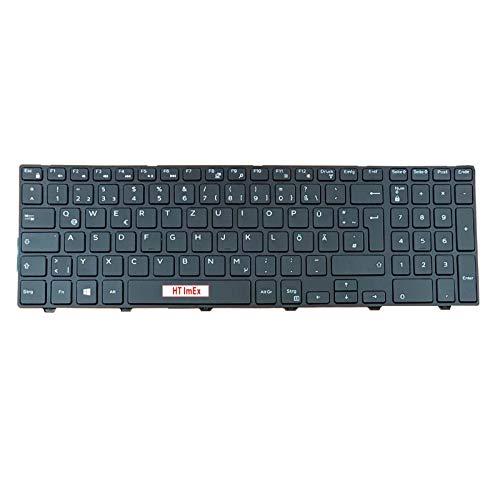 Tastatur - Farbe: Schwarz - Deutsches Tastaturlayout kompatibel für Dell Inspiron 15-3543, 15-5542 15-5547, 15-5545, 15-3558, 15-3568, 15-3551, 15-3552, 15-5758