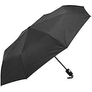 Umbrella - Windproof Reinforced Frame, Tested in 60mph Winds, It's Built To Last or Your Money Back. Black Automatic Umbrella- Auto Open Close for Fast Release Compact:Eventmanager