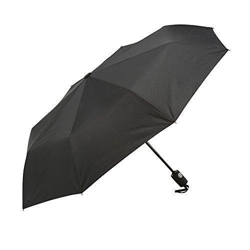 Regenschirm - K-POP schwarzer automatischer Regenschirm, der Beste kompakte Reiseschirm, automatisches öffnen und schließen, für Männer und Frauen - #1 Stockschirme, Taschenschirm, Schirm + Umbrella